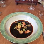 Aal-Suppe mit kräftiger Fleischbrühe