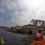 Kayaking to the caves