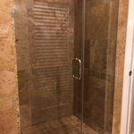 huge walk in shower in syrah suite