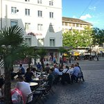 Basel- time to relax and chat at the many cafes in the Basel streets