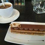 Chocolat chaud et patisserie