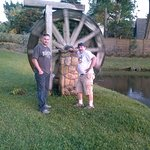 Noah and son Greg outside of the Casements visiting historical well, very nice