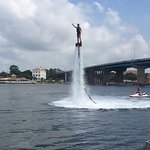 Power Up Watersports, undoubtedly THE place in Destin to learn flyboarding! Patient, experienced