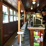 Inside of the diner