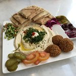 Fantastic falafel and humus. Don't miss it