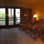 Living area in one-bedroom suite