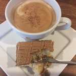 Delicious Italian coffee and homemade cakes available