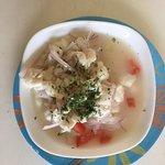 Cheviche de pescado + verdes fritos👍