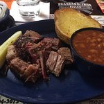Small Burnt Ends Platter with BBQ Beans