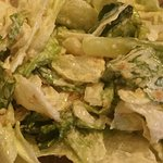 Dinner salad with homemade Roman (Caesar) dressing.