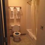 Bathroom and soaker tub in room #75