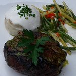 """American Kobe"" 8oz Top Sirloin - Baseball Cut / Fresh Herb Salsa Verde / Truffle Mash Potato"