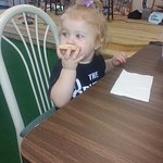 My Niece enjoying her free cookie!!!