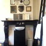 Quirky wash basin area in OYO room