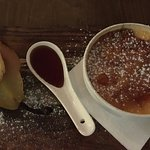 Creme Brulee with Poached Pear