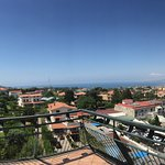 A panoramic view from our balcony.