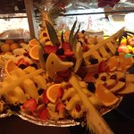 Our delicious fruit all served in one plate.