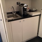 Kitchen area~fridge & espresso machine!