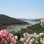 Blick auf den Lago di Liscia (leider mit wenig Wasser)