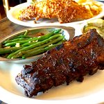 Ribs and Green Beans.