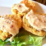 Fried Green Tomatoes. One missing, was eaten to quick.