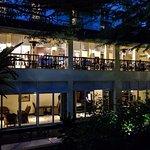 Hotel's Restaurant Balcony at Night