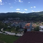 The view from the hotel over Tryavna
