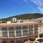 Panoramic view from our balcony