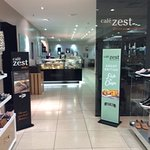 Entrance to cafe zest