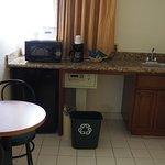 Mini-kitchen.