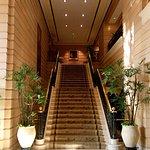 Las escaleras que conducen al restaurant Mediterráneo