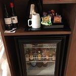 välfylld minibar, gratis kaffe/te