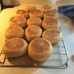 Homemade English Muffins for our B&B Guests