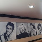 50s diner wall
