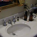 Wash basin is in room not bathroom