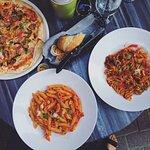 Vegetarian Pizza, Spicy Penne Pasta, Vegan Rotini
