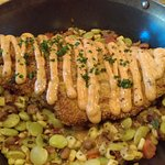 """Mississippi Spotted Cat"" catfish on succotash"