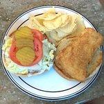 Anthony's Diner Halibut Sandwich