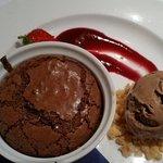 The perfect chocolate fondant, with homemade Baileys ice cream