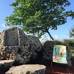 Land Art with Rocks Furniture at Miramar Regional Park