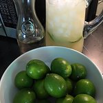 Margarita recipe testing in full effect. First round 3 parts tequila, 3 parts fresh lime juice,
