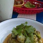 ceviche verde y horchata