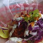 Taco Arabo - who would have thought of hummus on a taco?