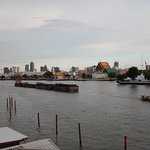 View of the Chao Phraya River from the bar