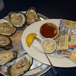 My half dozen oysters (they were great!!).