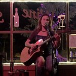 Annie B. performing at the Wine Stoppe.