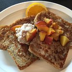 Vegan Peaches and Cream French Toast