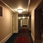 Long hallway to room