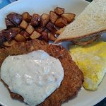 Chicken Fried Steak..enough for two!