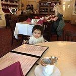 A baby girl enjoys her surroundings